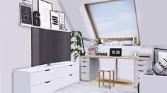 Sims 4 CC's - The Best: Office by MXIMS