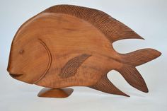 Monumental Brazilian Wood Carving of a Fish image 3