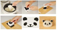 Panda Seaweed Punch and Rice Mold Kit