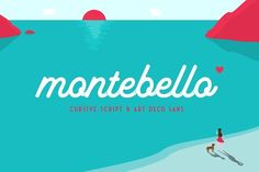 Ad: $16 Cursive Script Montebello - Script Typeface by Ian Barnard on @creativemarket