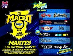 Este 7 de Octubre no te pierdas el Macro Joya 2014 de La Mejor FM Monterrey en el #PalacioSultan @LAMEJORFMMTY