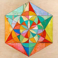 colour / hexagon / shapes  / geometry / symmetry