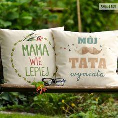 """+Zestaw+poduszek+bawełnianych+""""Mama+i+Tata""""+w+Spodlady+na+DaWanda.com"""