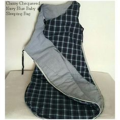 Classy Chequered Navy Blue Baby Sleeping Bag  #Blue #Sleepingbag #cotton #warm #sleep #baby #India   If you are interested in buying this sleepingbag, please comment below or write us at connectzoey@gmail.com Sleeping Bag, Baby Products, Baby Blue, Classy, India, Warm, Cotton, Jackets, Clothes