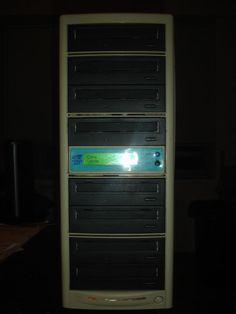CD Copy Tower Stand-Alone Duplicator (7) CD-ROM 16x Drives #MDI