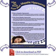 Resources for Patients With Idiopathic Hypersomnia - Living With Idiopathic Hypersomnia