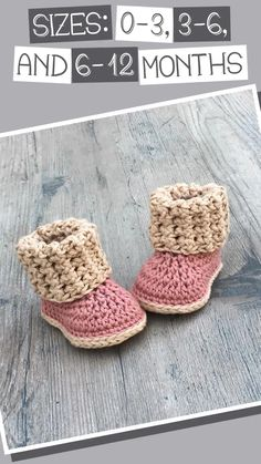 This pattern contains sizes 0-3, 3-6, and 6-12 months. For more bootie patterns, please visit my shop. Crochet Converse, Crochet Baby Shoes, Crochet Baby Booties, Crochet Slippers, Baby Slippers, Crochet Crafts, Crochet Projects, Crochet Bebe, Crochet Patterns Amigurumi
