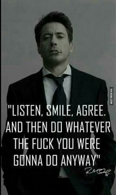 RDJ --- can't please others, might as well do what makes you happy