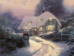 Thomas Kinkade - Christmas Cottage  1990