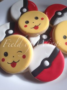 Pokemon & Pikachu sugar cookies