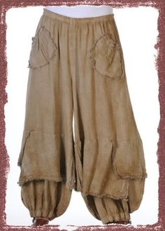 OH MY GAUZE Cotton Lagenlook GUCHI Pants Harem Layered Wide M/L/XL/1X chz Colors | eBay