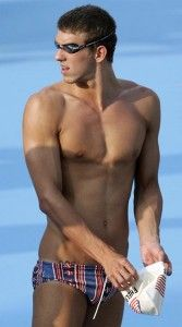 Micheal phelps..because his torso deserves its own gold medal.
