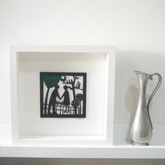 Walk Together Papercut by CarolineRees on Etsy