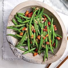 Haricots Verts with Pancetta and Garlic Recipe | MyRecipes.com Mobile