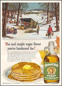 1949 ad for Vermont Maid syrup