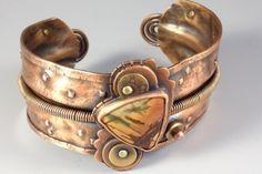 Copper and Stone Cuff