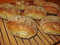 Bread Machine Recipes, Bread Recipes, Cooking Recipes, Pan Bread, Bread And Pastries, Bread Rolls, Baguette, Cooker, Food And Drink