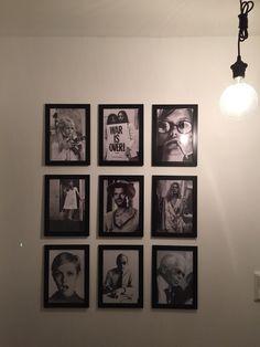 Wall Gallery/ wall of fame/ Ikea NYTTJA Rahmen schwarz black and white minimal design Granit Bulb/lamp