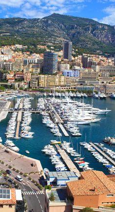 Yachts in Monte Carlo, Monaco bay