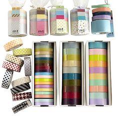 I love the Set of 10 Mixed Washi Japanese Masking Tapes, Solid, Light Colors on markandgraham.com