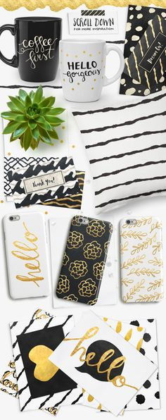 Gold Foil Styles + EXTRAS! by Pink Coffie on Creative Market