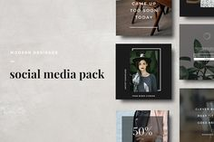 Modern Social Media Pack by The Routine Creative on @creativemarket