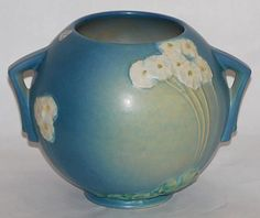 Roseville Pottery Primrose Blue Bowl
