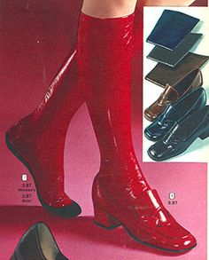 1970's vinyl stockings to wear with shoes to simulate a go-go boot look