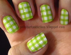 Pic-a-nic nails from Polish Art Addiction - (psst! they're stickers!!)