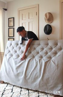How To Make A Diamond Tufted Headboard 2019 A headboard is a great way to make your bedroom look put together! See how to make a DIY Tufted headboard here! The post How To Make A Diamond Tufted Headboard 2019 appeared first on Furniture ideas. Diy Tufted Headboard, Diy Headboards, Headboard Ideas, Tufting Diy, Making A Headboard, Refurbished Headboard, Picture Frame Headboard, Making A Bed Frame, Tufted Bed Frame