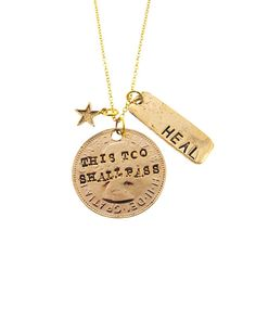 Gold Healing Necklace   JewelMint