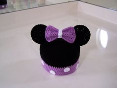 Crochet Minnie Mouse Hat - love this! Maybe I can make a similar one with fleece instead