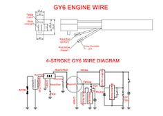 pin by marthie schonstein on diy and crafts pinterest engine rh pinterest com Chinese ATV Wiring Diagrams GY6 Stator Wiring Diagram