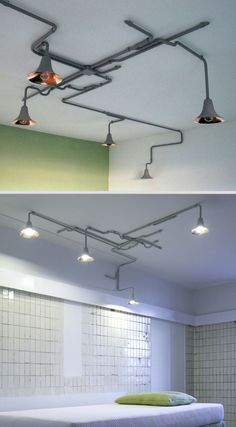 I love this light fixture - Light Forest by Ontwerpduo. It looks like a subway map - until it goes down the wall.