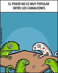 El poker y los camaleones.