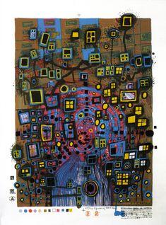 Friedensreich-Hundertwasser-Paintings-1993-city-citizen