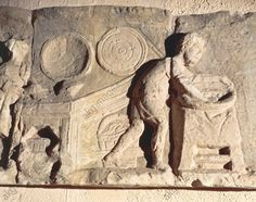 Relief depicting the making of bread (3rd century AD) - Trier Rheinisches Landesmuseum