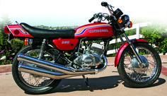 1972 Kawasaki 350 S2 Mach II, featured in the December 2012 issue of Rider magazine.