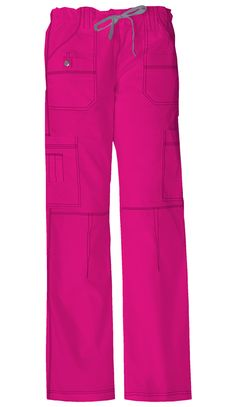 Dickies 857455 Womens Nine-Pocket Utility Pink Scrub Pant. Haha I have to get this pair and this color for work...so comfy!!