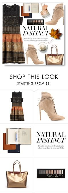 """""""Lace Up Booties"""" by sarah-crotty ❤ liked on Polyvore featuring Alberta Ferretti, Gianvito Rossi, Disney, BCBGMAXAZRIA, Forever 21, StreetStyle, dress, trending and laceup"""