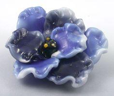 Blue boro flower pendant