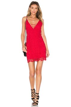 THE JETSET DIARIES Private Beach Mini Dress in Crimson $178
