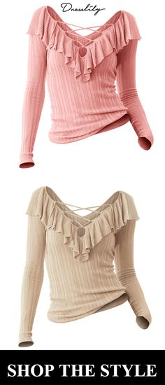V Neck Long Sleeve Pullover Sweater.Extra 12% off code 7b29e7234
