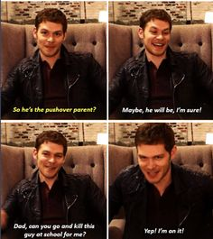 This will totally be Klaus when Hope grows up lol