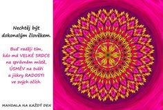 Mandala Měj radost ve svých očích Story Quotes, True Stories, Favorite Quotes, Tapestry, Motivation, Hanging Tapestry, Tapestries, Needlepoint, Wallpapers