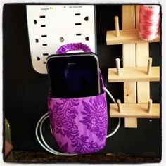 Hang your phone up while it charges? Nifty!