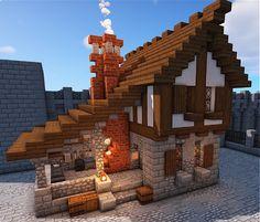 Cute Minecraft Houses, Minecraft Modern, Minecraft Plans, Amazing Minecraft, Minecraft City, Minecraft Construction, Minecraft House Designs, Minecraft Videos, Minecraft Tutorial