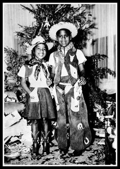 Cowboy and Cowgirl, Christmas 1955.