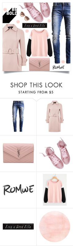 """""""Untitled #1875"""" by kriz-nambikatt ❤ liked on Polyvore featuring Topshop, Yves Saint Laurent, 3R Studios and Chloé"""