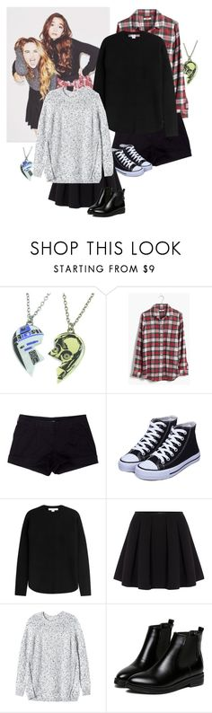 """""""Sabrina Carpenter and Rowan Blanchard"""" by lightyears-away ❤ liked on Polyvore featuring R2, Disney, Madewell, Prada Sport, Alexander Wang, Polo Ralph Lauren, Rebecca Taylor and WithChic"""